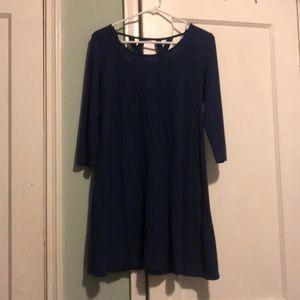 Casual navy dress